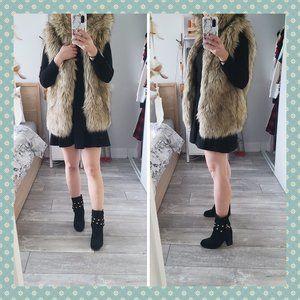 Aritzia Sunday Best Ovid Faux Fur Vest